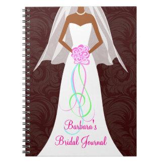 African American Wedding Damask Journal Notebook