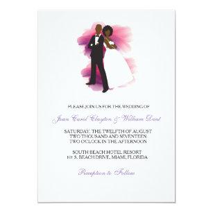 African American Wedding Invitations Zazzle