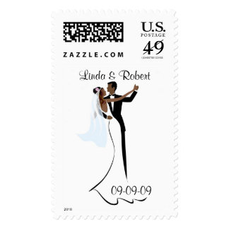 African American Wedding Postage
