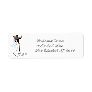 African-American Wedding Return Address Labels