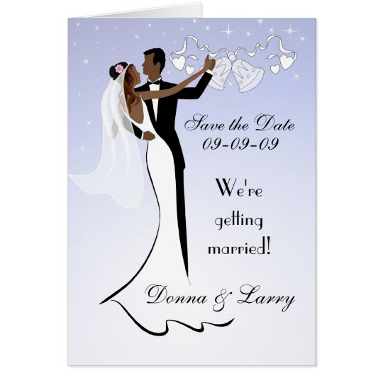 African American Wedding Save The Date Card