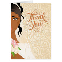 African American Wedding Thank You Card
