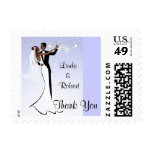 African American Wedding Thank You Postage