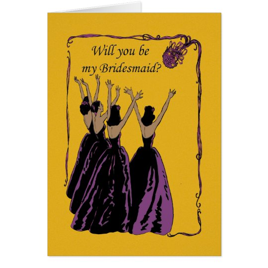 African American  Will you be my bridesmaid? Card