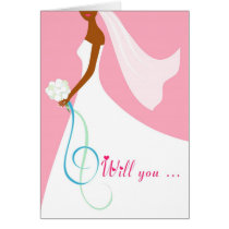 African American Will You be my Bridesmaid Card