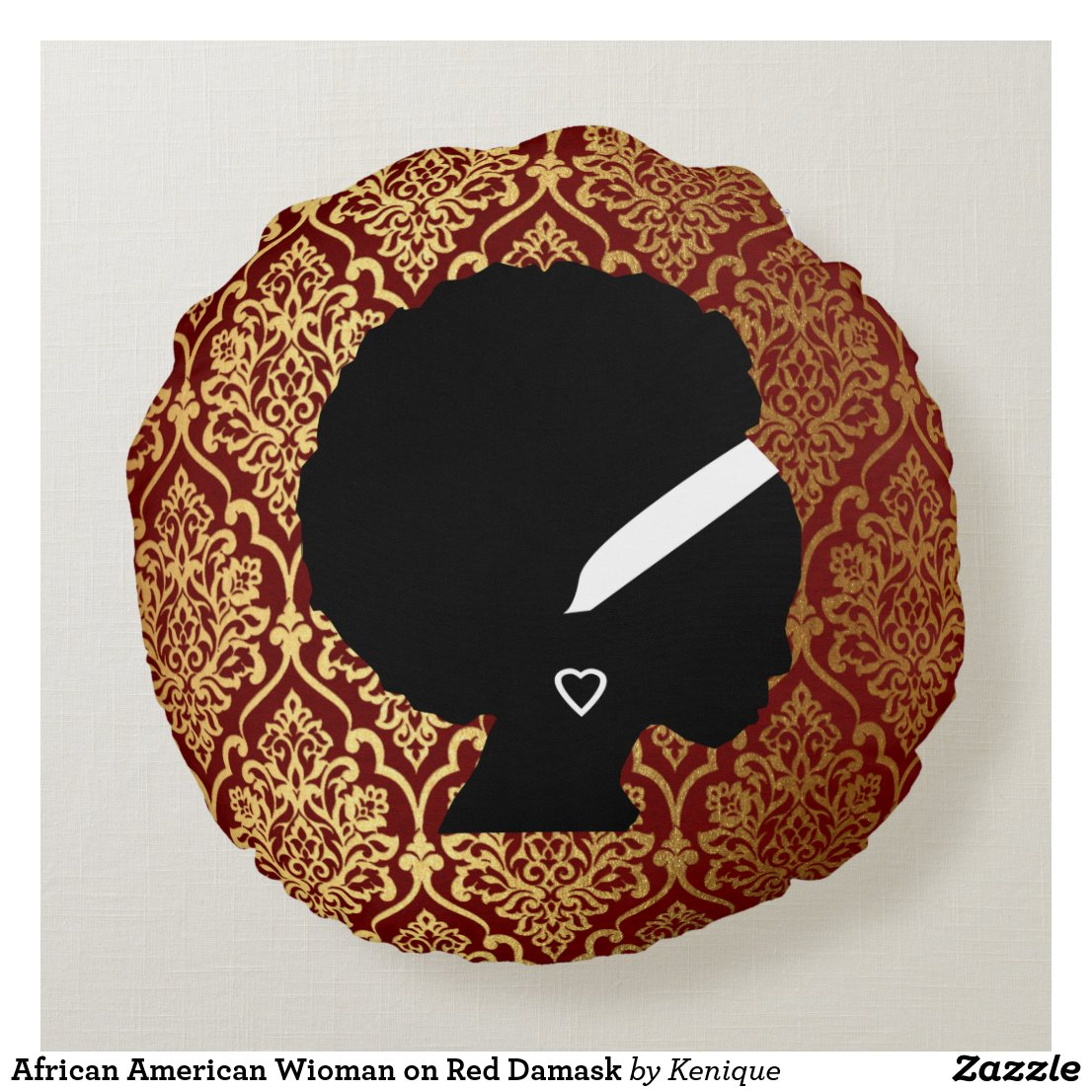 African American Woman Damask