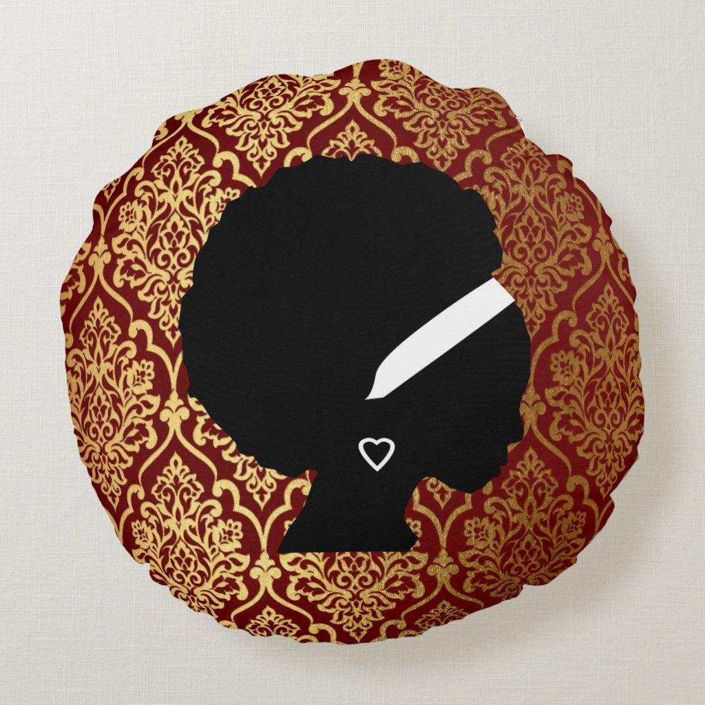 African American Woman Damask