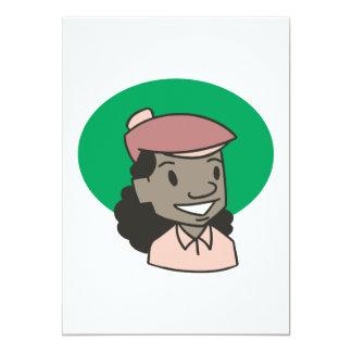 African American Woman Golfer Card