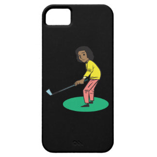 African American Woman Golfer iPhone SE/5/5s Case