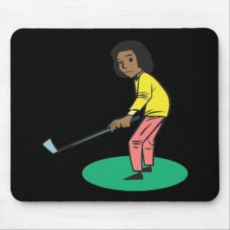 African American Woman Golfer Mouse Pad