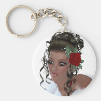 African American Woman Key Chains