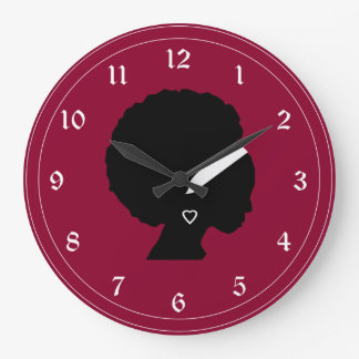 African American Woman Style Pattern Large Clock