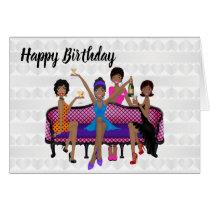African American Woman's Birthday Card