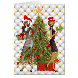 African American Women Christmas Card