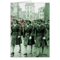 African American Women Marching Card