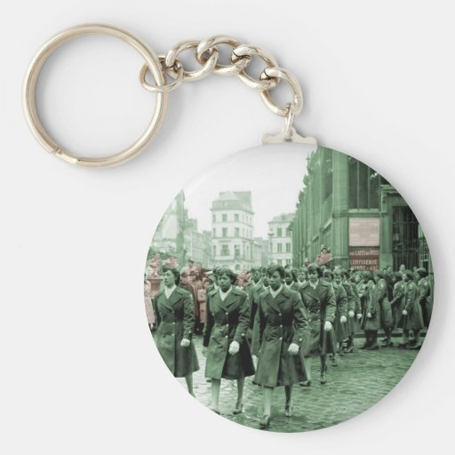 African American Women Marching Keychain