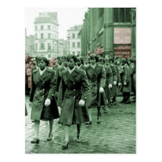 African American Women Marching Postcard at Zazzle