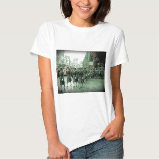 African American Women Marching Tee Shirt