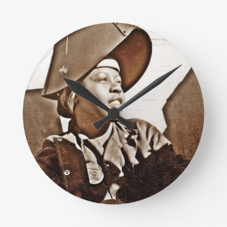 African American Women Patriots Round Wall Clock