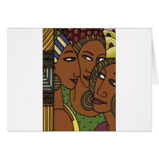African American women sister friends Card