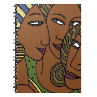 African American women sister friends Notebook