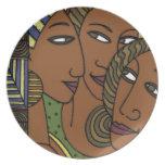 African American women sister friends Dinner Plates