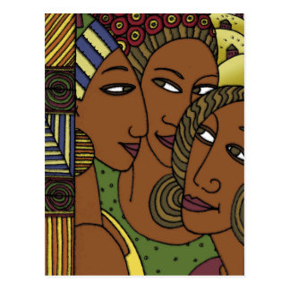 African American women sister friends Postcard