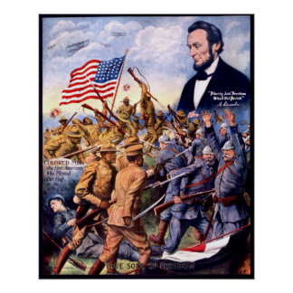 African American WWI TRUE SONS OF FREEDOM Heroes Poster