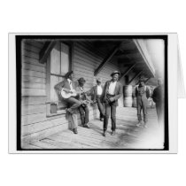 African Americans Waiting for the Boat c1902 Card