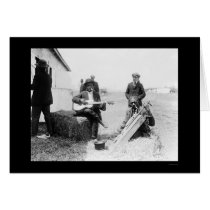 African Americans with Kazoos and a Guitar 1914 Card