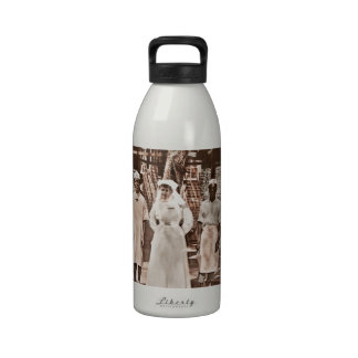 African and White Medical Team WWI Drinking Bottles