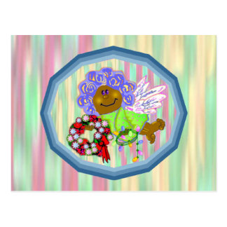 African Angel Greeting Cards Post Card