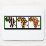 African Animal Collage2 Mouse Pad