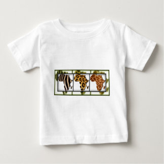 African Animal Collage Baby T-Shirt