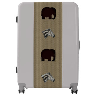 African Animal Graphic Luggage