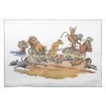 African Animal Race Placemats