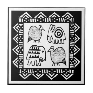 African Animal Spirits Tile