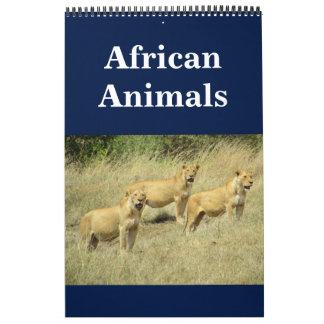 african animalia 2018 calendar