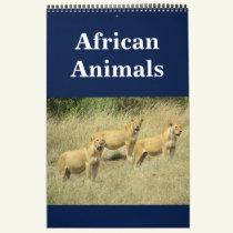 african animalia calendar