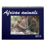 african animals 2015 wall calendar