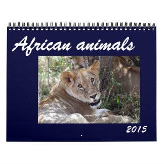 african animals 2015 wall calendar