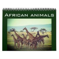 african animals 2021 calendar