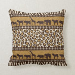 African Animals and Leopard Wraparound Print Pillows