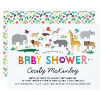 African Animals Baby Shower Invitation