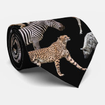 African Animals Neck Tie