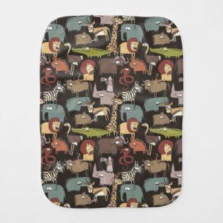 African Animals Pattern Burp Cloth