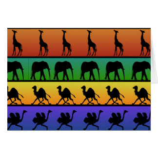 African Animals Pattern Card