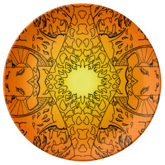 African Animals Sunrise Plate