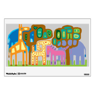 African animals room stickers