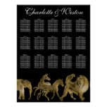 African Animals Zoo Wedding Seating Chart Gold